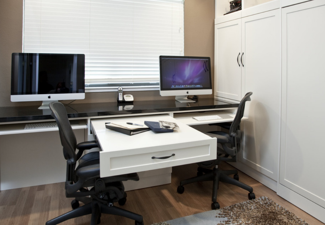 amazing home office dual desk