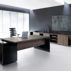Ultra Modern Home Office Furniture Ideas Futuristic Executive Black Desks