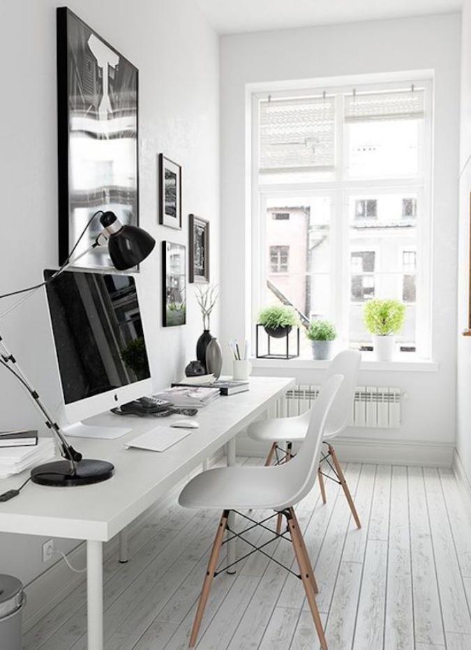 white cool home office furniture ideas stylish minimalist interior design