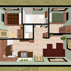 2 Bedroom Design Apartment Magnificent Small Designs 2