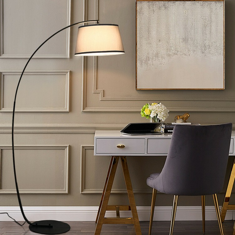 Arc Floor Lamp Home Office Sturdy Base Modern