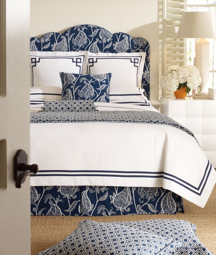 Best Ideas About Blue White Bedrooms On Pinterest Navy Blue Simple Blue And White Bedroom Designs