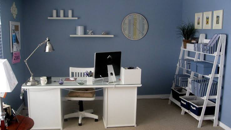 desk lamp for home office decorating ideas furniture with cool blue wall jpeg