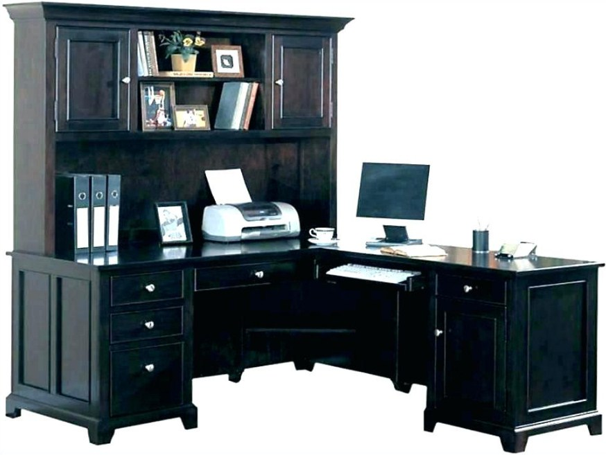 home office computer hutch desk decoration