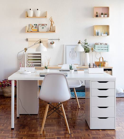 home office desk ideas ikea white contemporary with chair and drawer jpeg