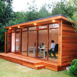 Home Office For Garden Refreshing Indoor Installation Ideas