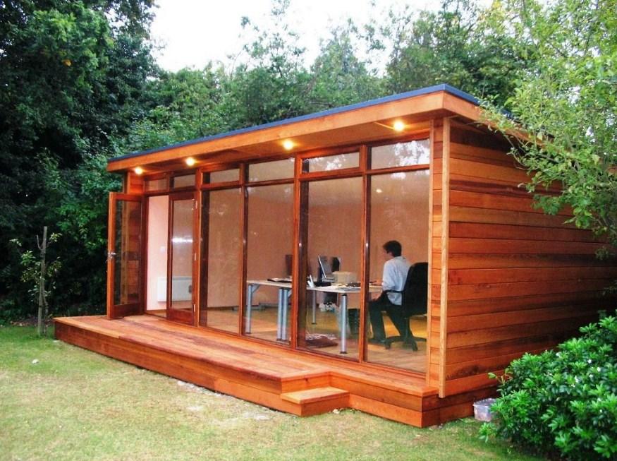 home office for garden Refreshing Indoor Installation Ideas