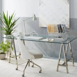 Home Office Glass Desk Ideas Favorite
