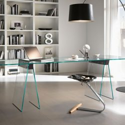 Home Office Glass Table Nella Vetrina Tonelli Kasteel Modern