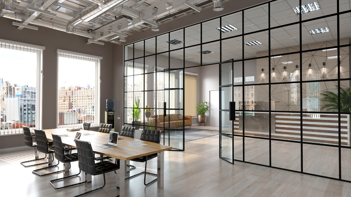 home office glass wall Glass Partitions by crystalia glass