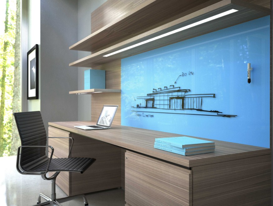 Home Office Glass Whiteboard Design Inspiration