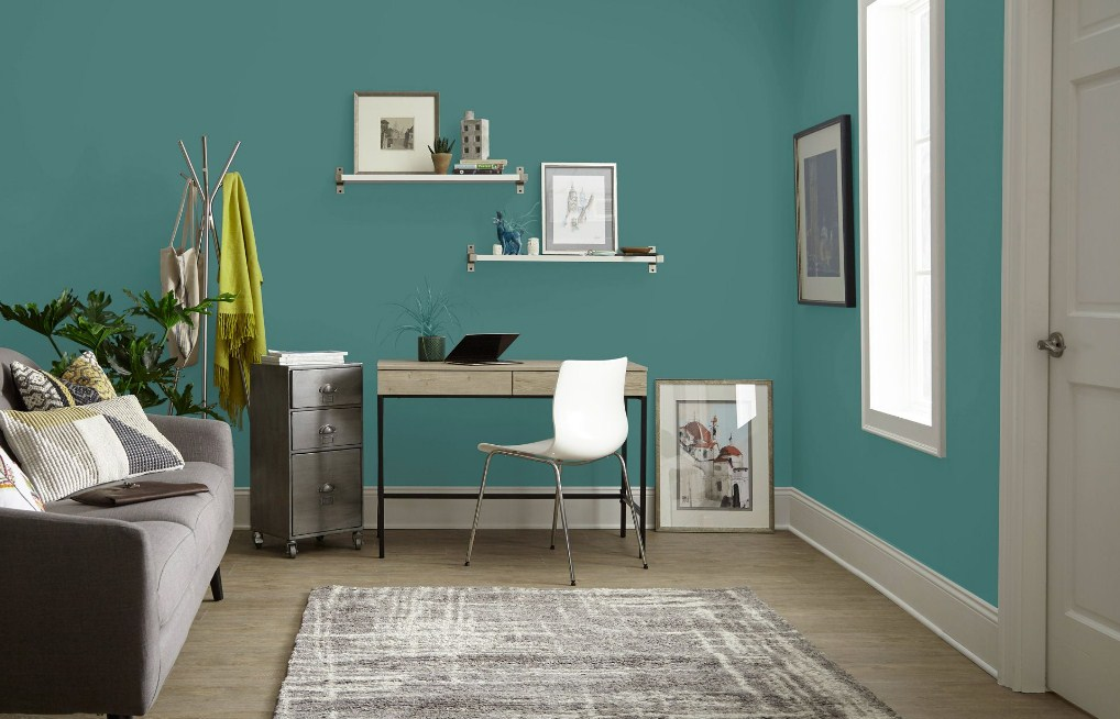 Home Office Green Paint
