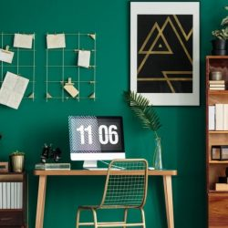 Home Office Green Wall Nature Into Your Dull Work Space Simple Cubicle Decor