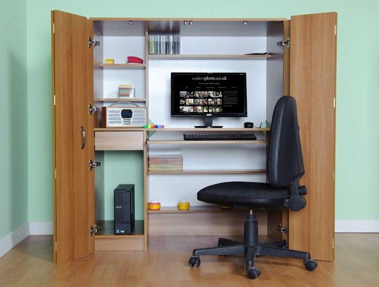 home office hideaway desk Safarihomedecor