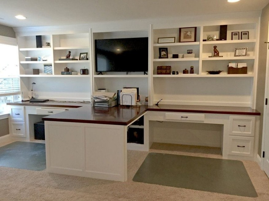 Home Office Ideas Double Desk Inspiring Design