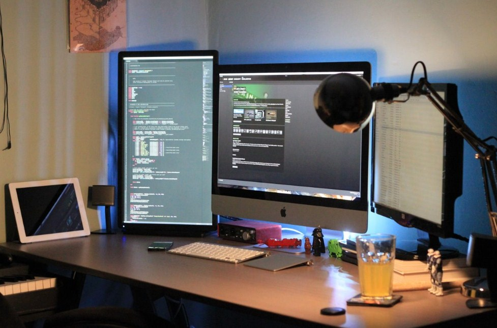 Home Office Ideas Dual Monitor