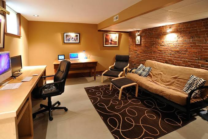 Home Office Ideas For Basement Another Cool Concept Jpeg
