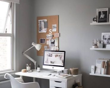 Home Office Ideas Grey A Cosy For A Freelance Creative