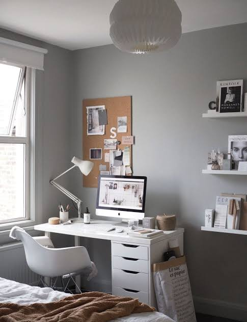 Home Office Ideas Grey A Cosy For A Freelance Creative Jpeg