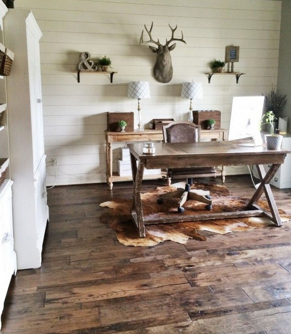 home office ideas rustic to get vintage look your home office