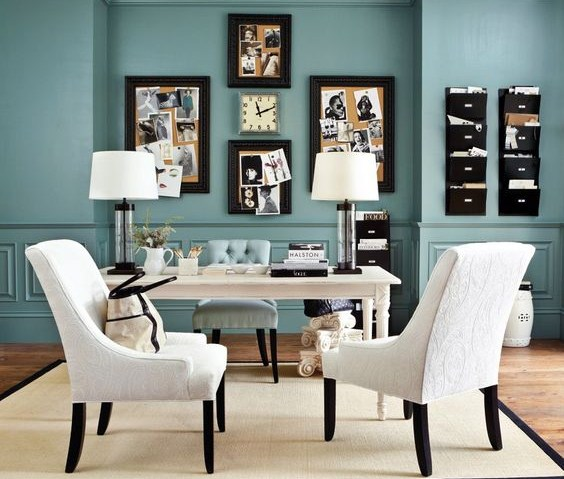 home office ideas teal
