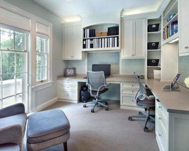 Home Office Ideas Two Desks Two Person Design For Two Person