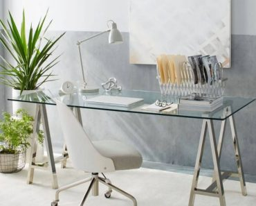 Home Office Ideas With Glass Desk Favorite