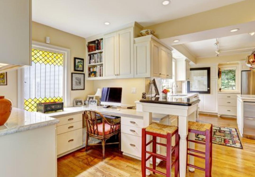 home office kitchen ideas Functional Office In Your Kitchen