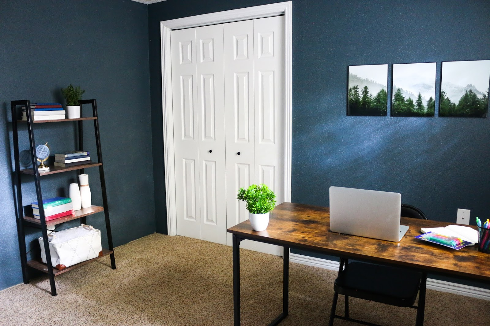 Modern Home Office Interior Industrial Tour