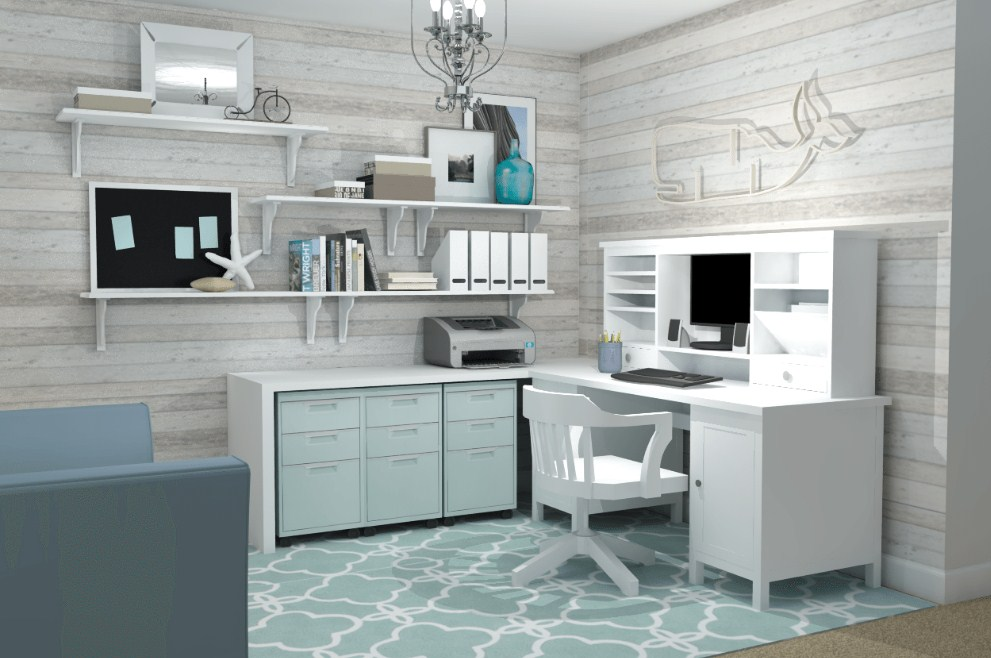small home office ideas ikea feminime a space to call home