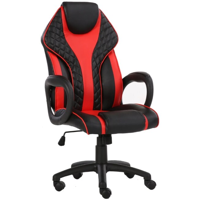 viscologic staple home office gaming chair Racing Sports Styled Home Office Chair Black Red