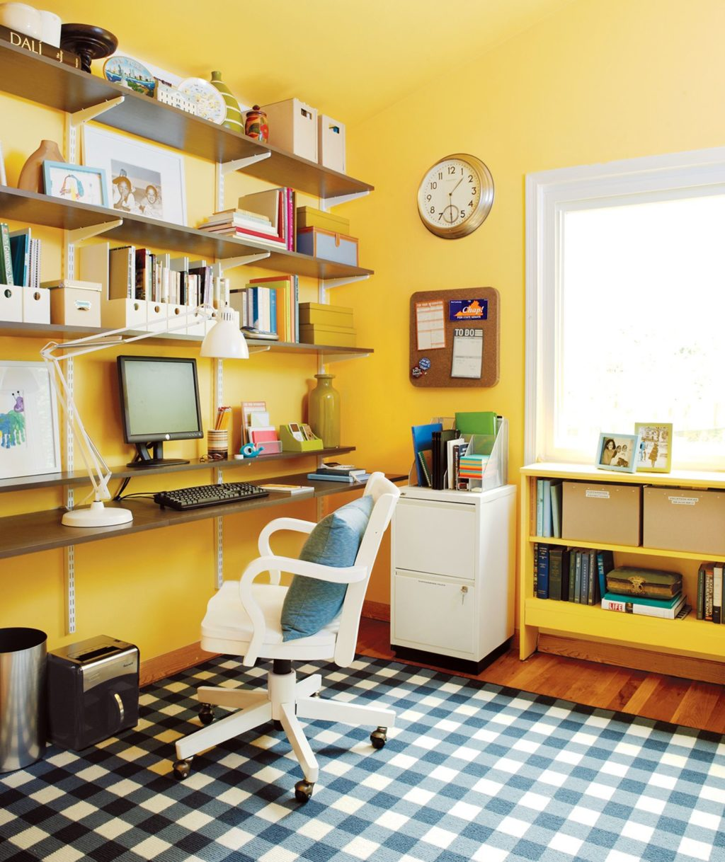 Yellow Home Office Ideas Awesome Design To Finish The Work