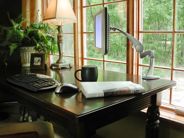 zen home office design ideas dark desk for decor with cool lcd jpeg