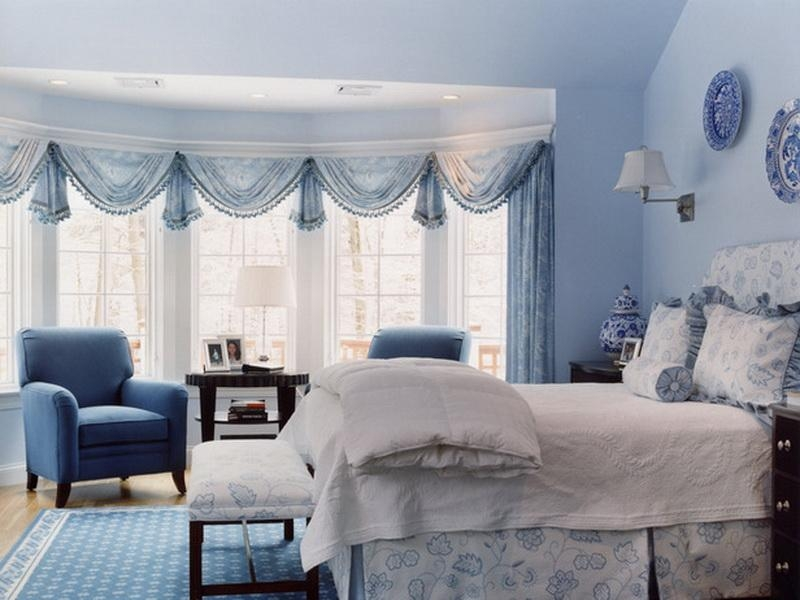 Bedroom Adorable Blue And White Bedroom Decorating Ideas Along Cheap Blue And White Bedroom Designs