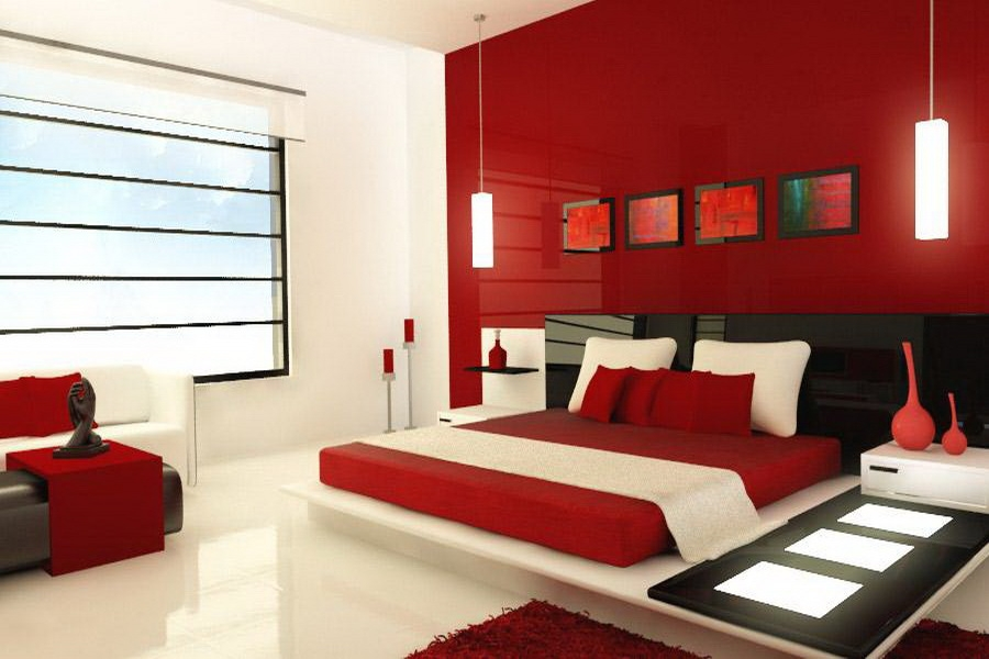 Bedroom Colors Ideas Pictures For Inspiration Home Interior Design Minimalist Bedroom Color Red