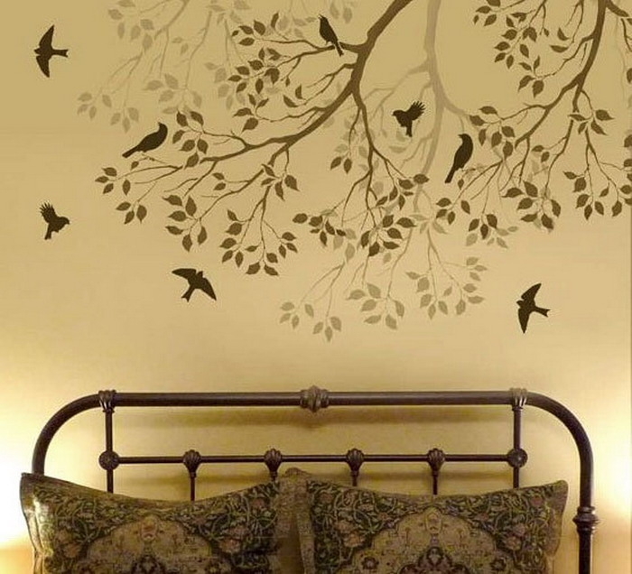 bedroom ideas with wall stencils wallpaper mural ideas elegant bedroom stencil ideas