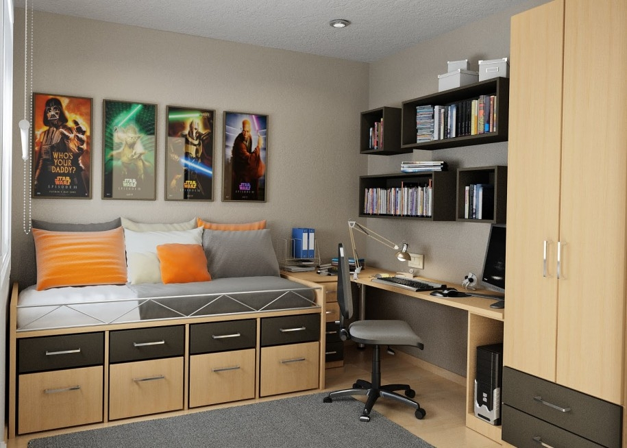 bookshelf and storage ideas for small bedrooms storage ideas for classic desk in bedroom ideas