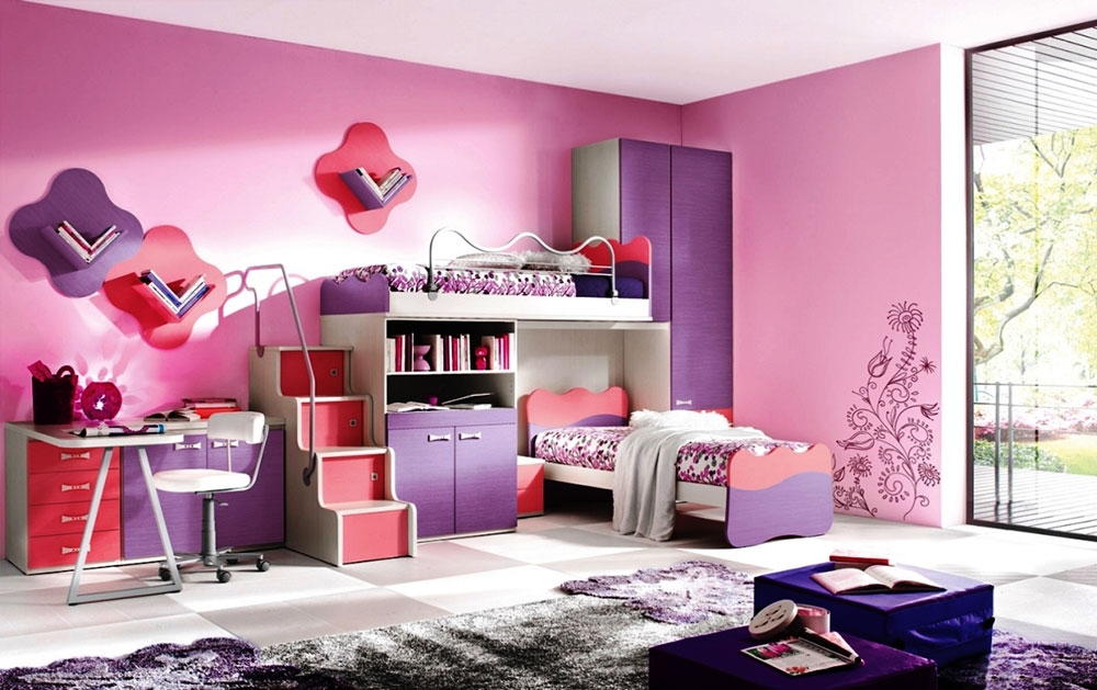 colorful girls rooms design decorating ideas pictures modern girl bedroom colors