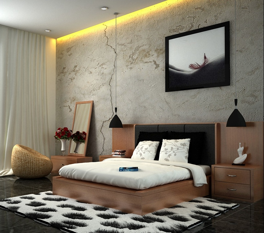 Fresh And Classy Bedrooms Image White Brown Black Minimalist Stylish Bedroom Design 1