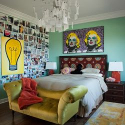 Green Bedroom Design And Retro Bedroom Decor Home Interior Inexpensive Retro Bedroom Design