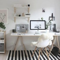 Home Office Ideas Minimalist White Desk Designs
