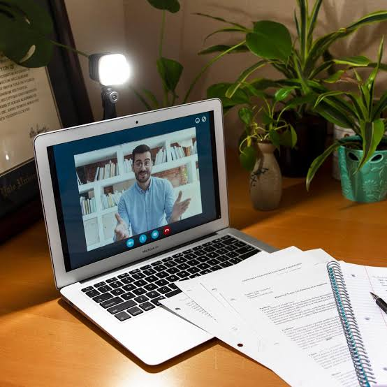 home office video conference lighting premium jpeg