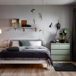 Ikea Bedroom Idea A White Small Bedroom Furnished With A Romantic Classic Bedroom Idea Ikea