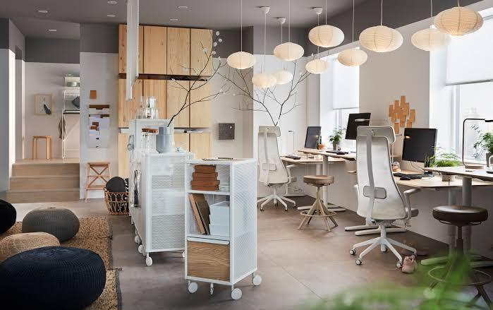 ikea home office lighting workspace inspiration jpeg