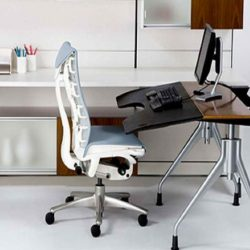 Minimalist Home Office Chair Ergonomic Computer Desk With White Office Chair