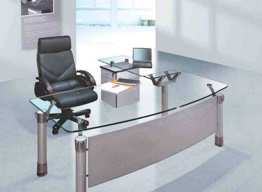 Modern Home Office Glass Desk Furniture