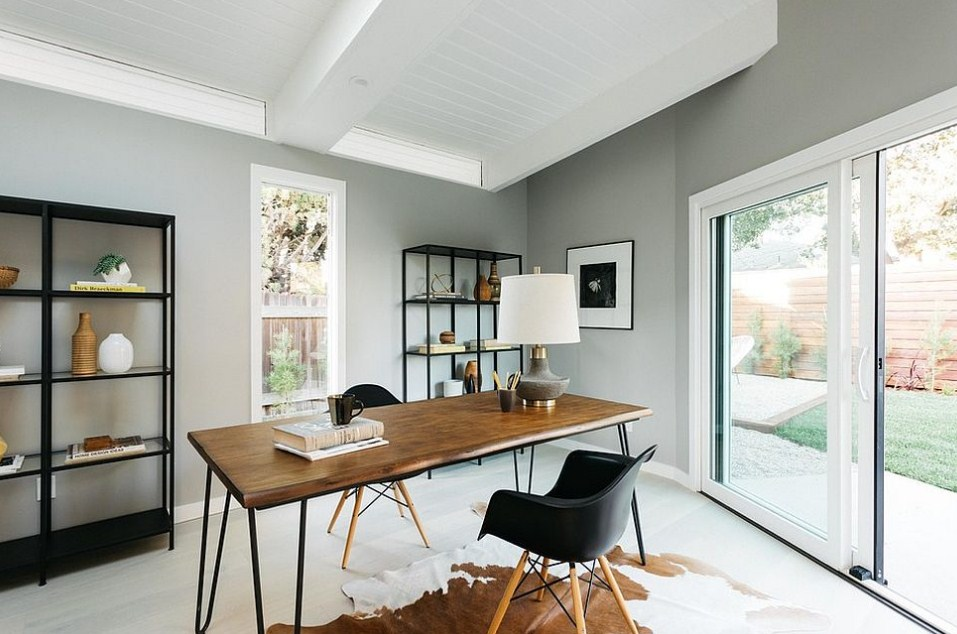 Modern Home Office Grey Trendy Combining Sophistication With Organization