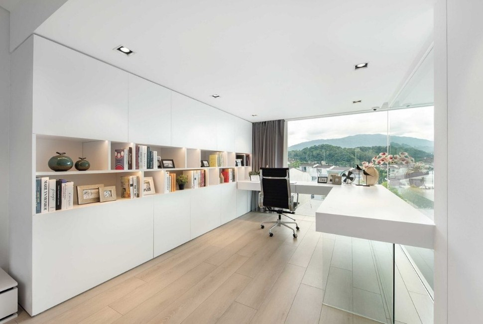 modern minimalist home office with an Admirable Decorating Ideas