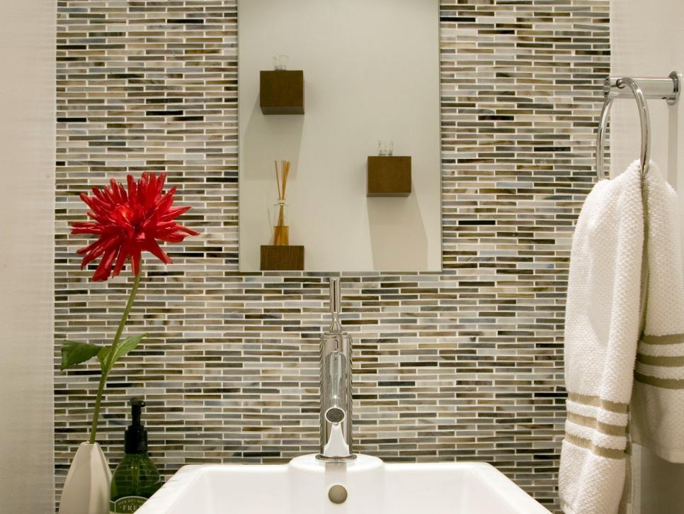 Bathroom Backsplash Styles And Trends Hgtv Elegant Backsplash In Bathroom