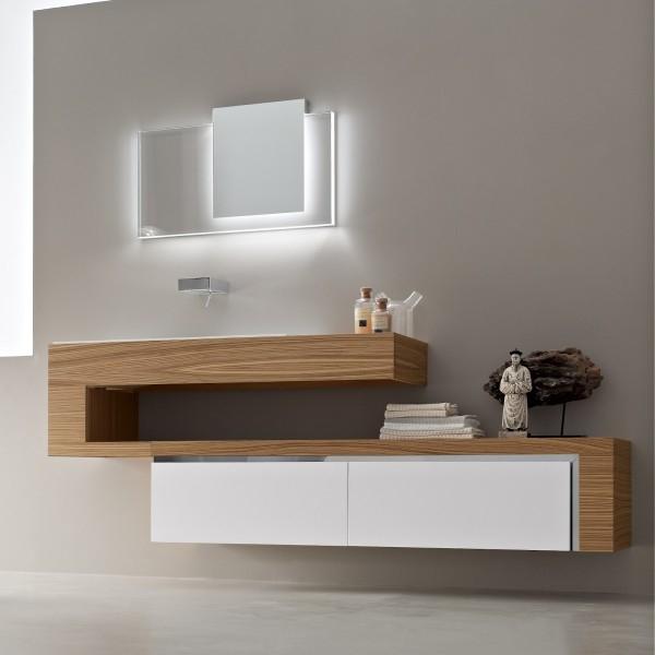 bathroom furniture decoration wood use built in modern simply unique designer bathroom vanity units